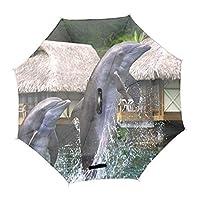 逆転傘 逆さ傘 逆折り式傘 反転傘 自立傘 長傘 手離れC型手元 耐風 撥水加工 晴雨兼用 ビジネス用 車用 UVカット 遮光遮熱