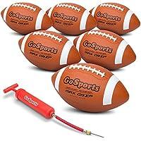 GoSportsゴムサッカーボール – 6パックのユースサイズBalls withポンプ& Carryingバッグ