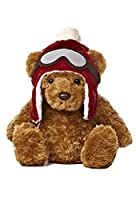 Winter Wagner Snow Chalet Bear 11.5 Plush with Red Hat From Aurora World [並行輸入品]