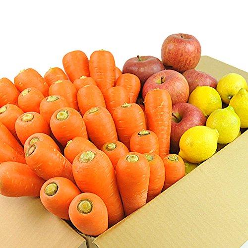 無農薬にんじん野菜セット(無農薬にんじん5kg+りんご3kg+レモン500g)