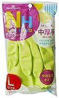 【まとめ買いセット】 ビニール 手袋 中厚手 ナイスハンド ミュー L グリーン 10双セット 008080