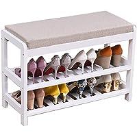 靴のラックソリッドウッド多層シンプルな家庭に座ることができます変更靴ベンチホールキャビネットドアの靴のベンチ (色 : 3, サイズ さいず : 54 * 30 * 50cm)