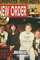 """Journal: New Order English Rock Band 1983 Hit """"Blue Monday"""" Post-Punk Electronica New Wave Music, Supplies Student Teacher Daily Creative Writing, Cute Drawing Paper for Kids, 110 Pages of 6"""" x 9"""" Blank Paper for Writting"""