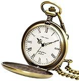 【リトルマジック】シンプル 懐中時計 メンズ レディース チェーン 蓋付き ローマ数字 ナースウォッチ 時計