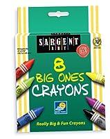 Sargent Art 22-0589 5インチx 9/16インチThe Big Ones 8-クレヨンとペガブル