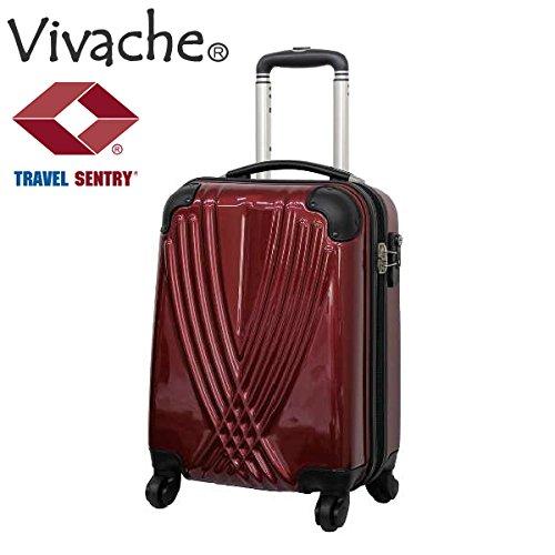 【Vivache】ビバーシェFB ハードキャリー TSAファスナーロックタイプ 25L【機内持込可】SSサイズ (レッド)