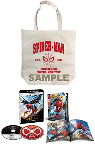 【Amazon.co.jp限定】スパイダーマン:ホームカミング 4K ULTRA HD & ブルーレイセット(初回生産限定)(オリジナルトートバッグ付) [4K ULTRA HD + Blu-ray]