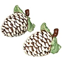 Cosmos Gifts 10294 Holiday / Seasonal Pine Cone Salt and Pepper Set , 2 – 1 / 2インチ