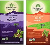 Tulsi Mulethi 25 Infusion Tea Bags + Tulsi Tummy Tea, 25 Tea Bags Fat to Fit