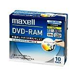 maxell 録画用 DVD-RAM 120分 3倍速対応 インクジェットプリンタ対応ホワイト(ワイド印刷) 10枚 5mmケース入 DM120PLWPB.10S