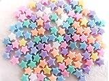 アクリル ビーズ 星形 パステル カラー カラフル 11mm 300個 スター 星 型 アクセサリー チャーム ブレスレッド ネックレス ミサンガ 手芸 ソーイング ハンドメイド