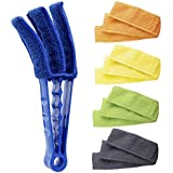 Hiware Window Blind Cleaner Duster Brush with 5 Microfiber Sleeves - Blind Cleaner Tools for Window Blinds Air Conditioner Jalousie Dust