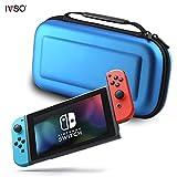 IVSO Nintendo Switch ケース, Nintendo Switchハンドバッグ ニンテンドースイッチビデオゲームコンソール用カバー Nintendo Switch専用収納バッグ EVA ケース -- nintendo switchキャリングケース(ブルーⅢ)