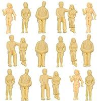 情景コレクション 人間 人形 人物 人間フィギュア 未塗装 着席人 座っている人形 1:25 18本入り 箱庭 装飾 鉄道模型 建物模型 ジオラマ 教育 DIY