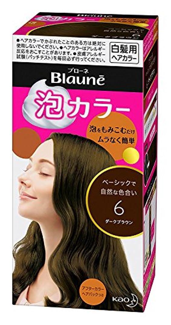 【花王】ブローネ泡カラー 6 ダークブラウン 108ml ×20個セット