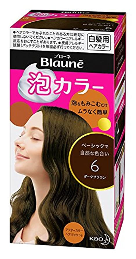 【花王】ブローネ泡カラー 6 ダークブラウン 108ml ×5個セット