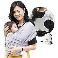 【ママリ口コミ大賞受賞】コニー抱っこ紐 (Konny by Erin) スリング 新生児から20kg 収納袋付き 国際安全認証取得 ぐっすり抱っこひも (グレー) (XL)