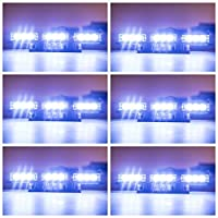 Orion Motor Tech 54 LED White Emergency Service Truck Car Vehicle Strobe Warning Light/Lightbars for Deck Dash Grill Windshield Headliner [並行輸入品]