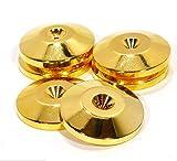 macaroni(マカロニ) インシュレーター スピーカー スパイク 受け 8個 セット 振動 吸収 純 銅 製 ゴールド メッキ