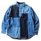 (リトルダーリン)littleDARLING シャツ パッチワークデニム ビンテージ プルオーバーシャツ メンズ 2(L) D/INDIGO