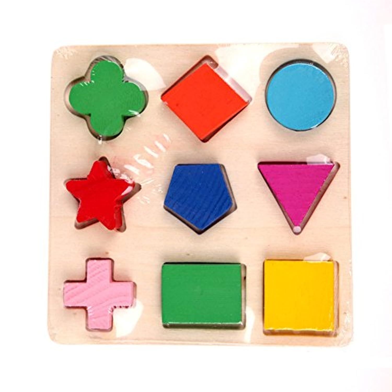 コシーリア(Coscelia)木のおもちゃ 幾何認知 形合わせ 型はめ パズル 幼児 知育玩具 積み木
