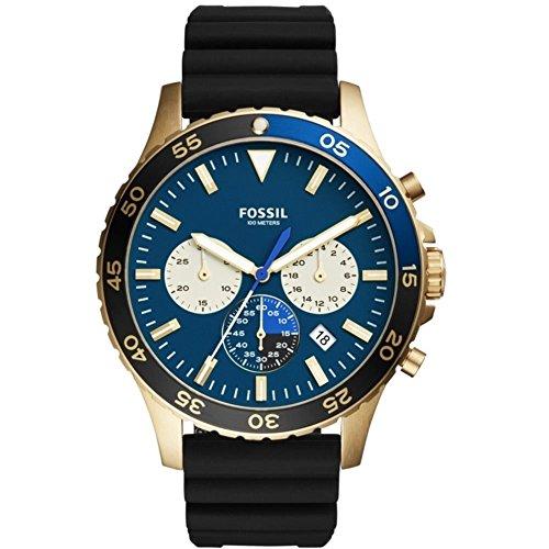 FOSSIL CREWMASTER クルーマスター スポーツ クロノグラフ ブルー/ブラック シリコン メンズ 腕時計 フォッシル CH3074 [並行輸入品]
