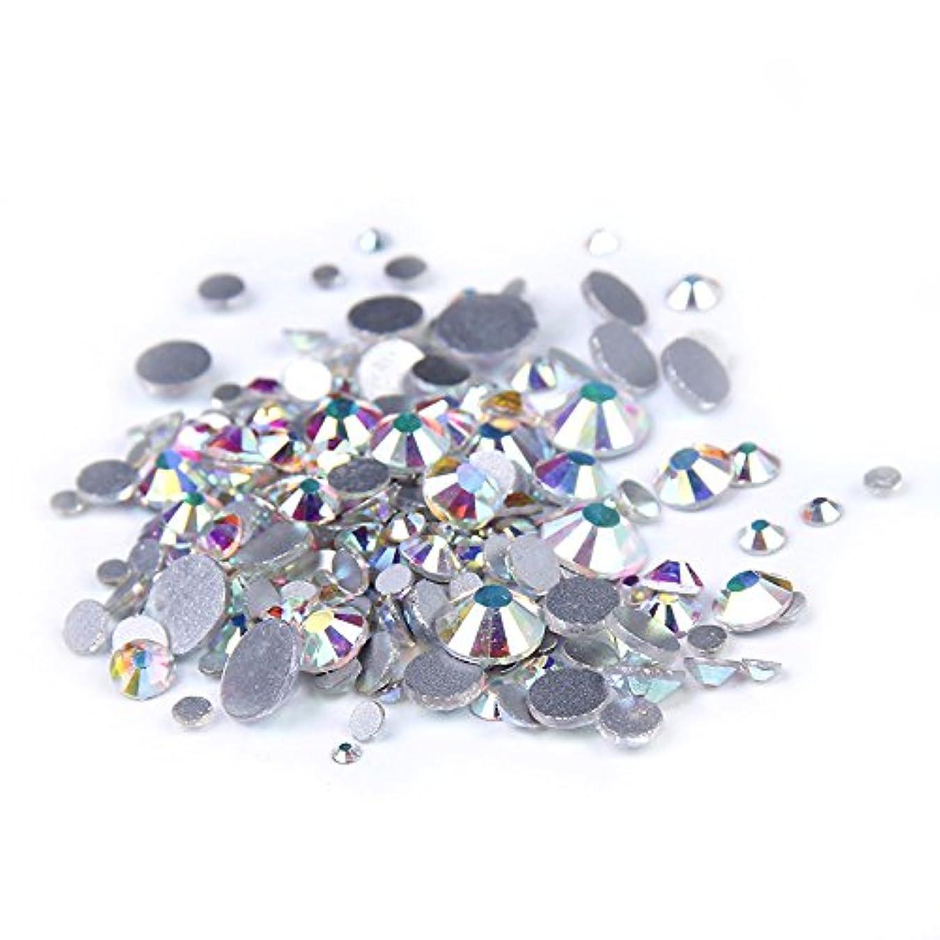 動揺させるドナー配置Nizi ジュエリー ブランド クリスタルオーロラ ラインストーン はガラスの材質 ネイル使用 型番ss3-ss50 (SS30 288pcs)
