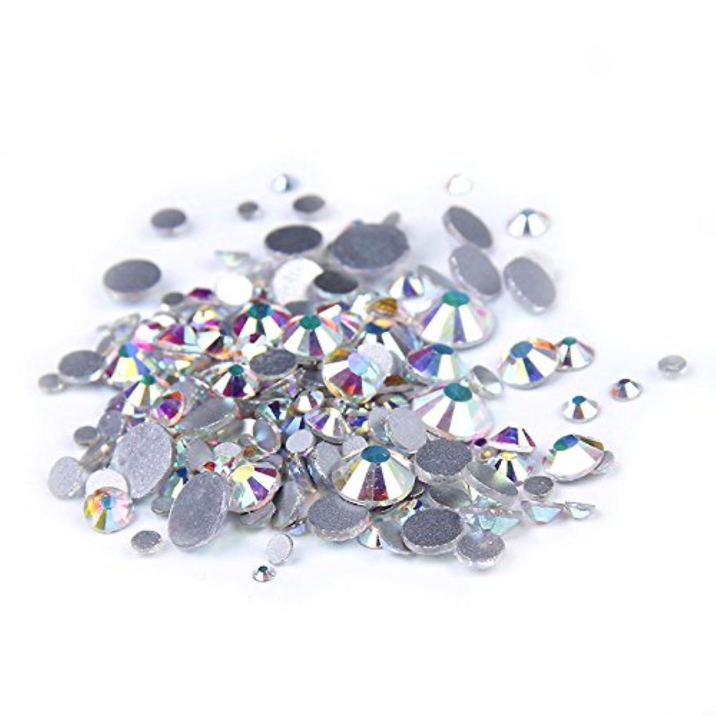 レビュードルペパーミントNizi ジュエリー ブランド クリスタルオーロラ ラインストーン はガラスの材質 ネイル使用 型番ss3-ss50 (SS50 144pcs)