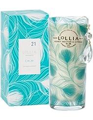 ロリア(LoLLIA) ミディアムパフュームドルミナリー350g Calm(チャーム付キャンドル ハニーネクターとシトラスの暖かい香り)
