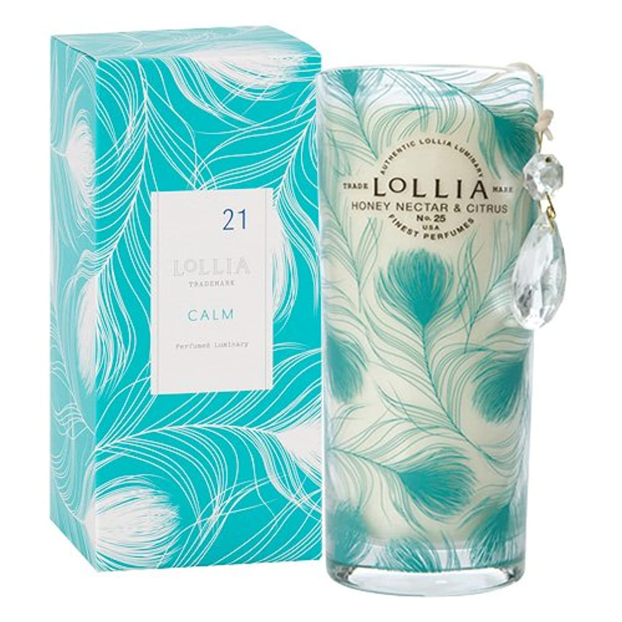 敵対的レジデンス疑問に思うロリア(LoLLIA) ミディアムパフュームドルミナリー350g Calm(チャーム付キャンドル ハニーネクターとシトラスの暖かい香り)