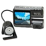 2インチ 2カメラ ドライブレコーダー 駐車監視 防犯HD LCDスクリーン搭載 広角260度 常時録画 340°回転可能