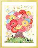出産祝い 女の子 絵画アート「咲きつづく日々」(名入れ-Mサイズ) 誕生記念 1歳誕生日プレゼント 人気