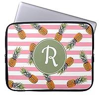 UDDESIGNガーリーな夏のパイナップルパターン|ピンクのストライプ タブレット インナーケース 7-8 インチ iPad mini2 mini3 mini4 スリーブ ケース 撥水 ネオプレーン インナー バッグ 保護 ソフト カバー