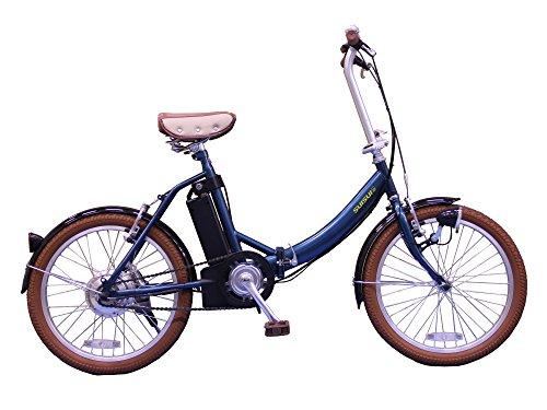SUISUI(スイスイ) 折りたたみ電動アシスト自転車 BM-E50 ネイビー 3灯LEDライト付 5.8Ahリチウムイオンバッテリー搭載 20インチ サークル錠 28474-0323