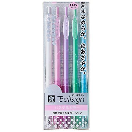 サクラクレパス 水性ボールペン ボールサインノック パステル 5色 GBR156-5B