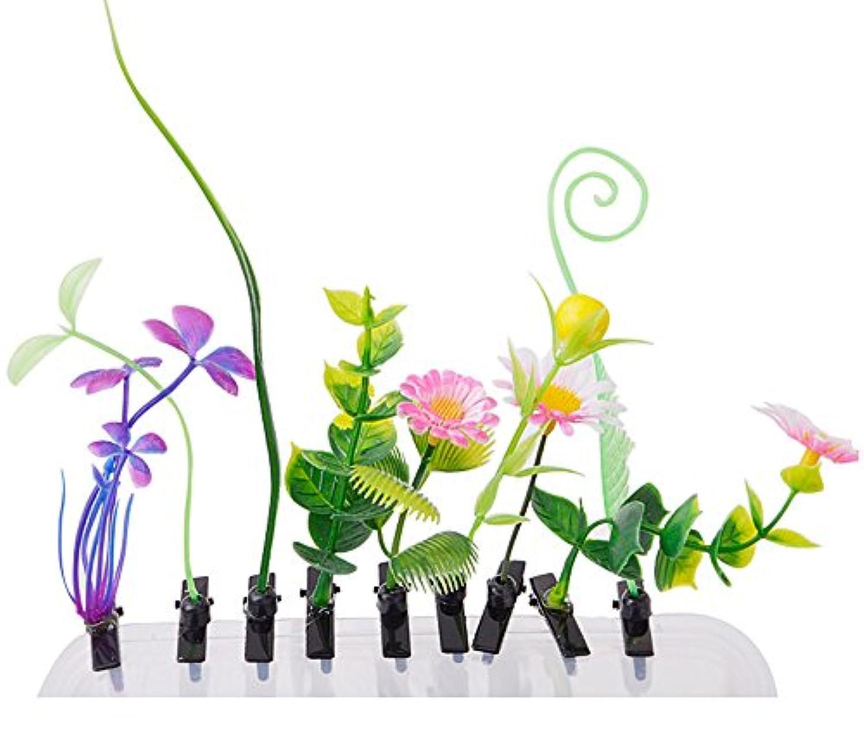 おもちゃ/コスメ?アクセサリー/ヘアアクセサリー ヘアピン 髪飾り 大流行 可愛い 面白い ヘアピンスタイル ギフト 贈り物 10個 植物 花草(ランダム)
