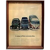 フォルクスワーゲン ビートル タイプⅡ タイプⅢ 1960年代 ビンテージ広告 ポスター アートフレーム 額付