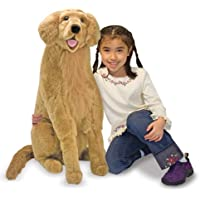 Melissa & Doug メリッサ&ダグ ぬいぐるみ 犬 ゴールデンレトリバー 動物 人形 おもちゃ