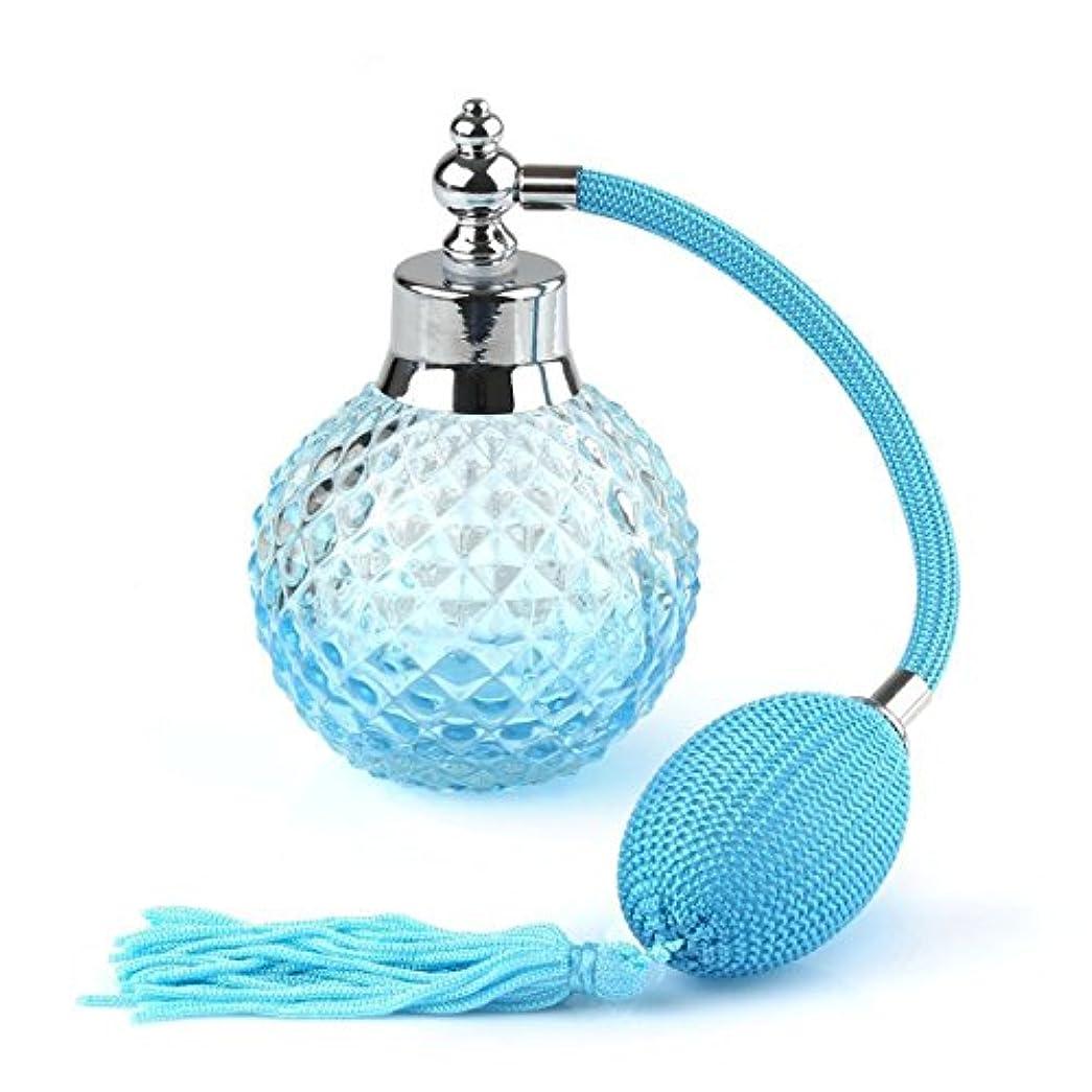 中絶セッション頭蓋骨ROSENICE クリスタル アトマイザー 香水瓶 スプレーボトル 100ml(ブルー)