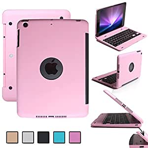 F.G.S ピンク iPad mini 4 Bluetooth キーボード ケース iPad mini 4がノートパソコンに変身! ipad mini 4 ワイヤレスキーボード [JP配列/US配列両方対応] 超薄型 Bluetooth キーボード Micro USBケーブル/日本語取扱説明書付き スタンド機能付き F.G.S正規代理品