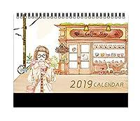 2019 卓上カレンダー クリエイティブ カレンダー/月間カレンダー/プランヘルパー、A7。