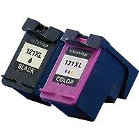 【 増量版 】 ヒューレットパッカード 用 HP121XL リサイクルインク 【 ブラック (CC641HJ)/カラー (CC644HJ)】 ISO14001/ISO9001認証工場生産商品 1年保証 インクのチップスオリジナル 対応機種: ENVY 100/ENVY 110/ENVY 120/ENVY 121