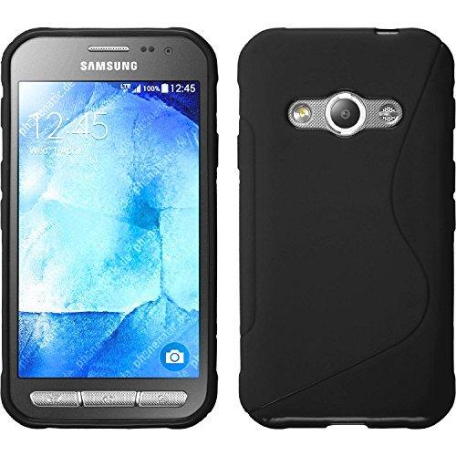 Galaxy Active neo TPU グリップケース [ docomo SC-01H ギャラクシー アクティブ ネオ 4.5インチ スマホ 対応 ] 滑止め加工 / ソフトフィット / 光沢加工【 Design S Black (ブラック) 】…
