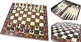 Best バックギャモンセット - Wegiel 木製ゲームセット チェス/バックギャモン/チェッカー 41cm [並行輸入品] Review
