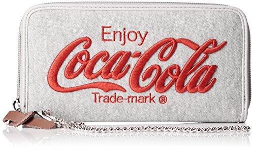 [コカ・コーラ] 財布 ウォレット サイフ 刺繍 スウェット ロゴ コカコーラ コーラ レディース メンズ ユニセックス かわいい シンプル 通学 日常 学生 旅行 大人 COK-WLT01 GRAY×RED One Size