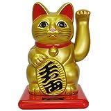 開運ソーラー招き猫 全国主要宝くじ売場約2000店設置 小型 金 RC-46JG