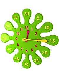 Tong Design 水滴 掛け時計 - グリーン - 5分もかからず 子供も 時計が読めるようになる グリーン [並行輸入品]