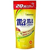 Mama Lemon Dishwashing Liquid Refill, Lemon Gold, 600ml