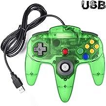 Classic N64 Controller, iNNEXT N64 Wired USB PC Game pad Joystick, N64 Bit USB Wired Game Stick Joy pad Controller for Windows PC MAC Linux Raspberry Pi 3 Sega Genesis Higan (Jungle Green)