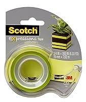 スコッチ デコレーションテープ C214-GRN-D 19mm×7.6m グリーン